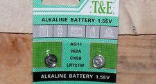 10x Knopfzelle Uhrenbatterie AG11,LR721,LR58,362 Camelion im Blister EXP2022