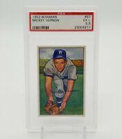 1952 Bowman MICKEY VERNON Base Set Card PSA 5.5 EX+ #87 Clean Great Centering