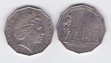 2005 50 Cent Coin Australia Remembrance 60th Anniversary of WW11 1939 - 1945 war