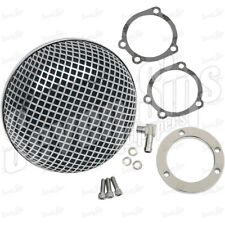 CHROME MESH BUG EYE AIR CLEANER FILTER KEIHIN CV CARBS CHOPPER HARLEY BOBBER