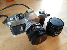 Canon Tx 35mm Slr Film Camera w/ 2 lens and 2 filters