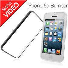 Apple iPhone 5c TPU Bumper Silikon Handytasche Schutz Case Handy weiss schwarz