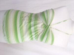 american eagle women summer coton top green strapless off shoulder size XS
