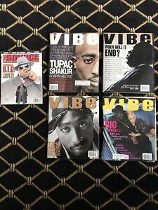 The Source Vibe Lot Biggie Tupac 1997 1995 1996 Vintage Hiphop Magazine RARE