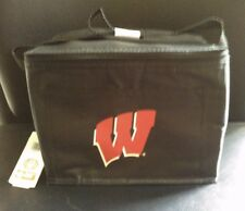NCAA WISCONSIN BADGERS Football *NEW* Neoprene 6-Pack Lunch Box Cooler LAST ONES