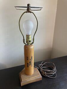 Vintage Louisville Slugger Wooden Bat Lamp Art Baseball Lover Decor WORKS