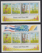 Eire Ireland 1993 Mint MNH 2 Minisheets Fauna and Flora Irish Orchids & Bangkok