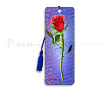 3D Bookmark - Red Rose