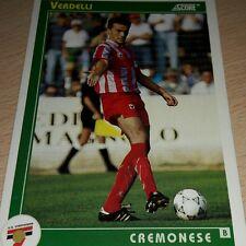 CARD SCORE 1993 CREMONESE VERDELLI CALCIO FOOTBALL SOCCER ALBUM