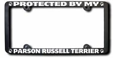 Protected By My Parson Russell Terrier License Frame