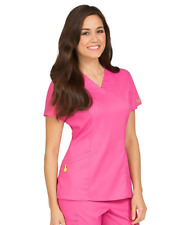 {2XL} Women's Med Couture Vivi Ivy Scrub Top ROSE (5401)