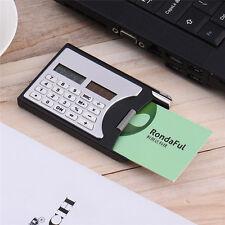 3in1 Card Box Clip Solar Energy Calculator Mini Portable Office Card Calculator