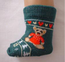 Christmas Teddy Bear Socks Fits 18 inch American Girl Dolls