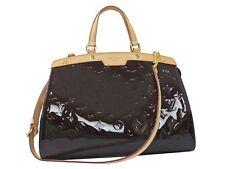 Authentic Louis Vuitton Vernis Shoulder Hand Bag Brea MM Amarante Unused C1453