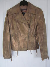 Women's Bomber Style Leather Jacket - Cripple Creek Size S