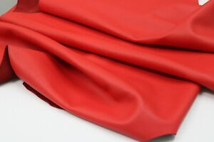 RED FLOATER LEATHER HIDE Thickness: 1.6-1.8 mm/ 4 - 4.5oz / Size: 9 SqFt