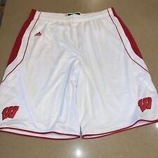 Nwt Adidas Mens Wisconsin Badgers Basketball Shorts Sz 4Xl Ncaa Bucky Wi