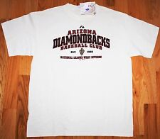 "ARIZONA DIAMONDBACKS MLB MAJESTIC ""CLUB"" S/S T-SHIRT TEE SIZE LARGE NEW NWT"