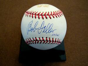 BOB FELLER HOF CLEVELAND INDIANS SIGNED AUTO LASER ETCHED L/E OML BASEBALL MLB