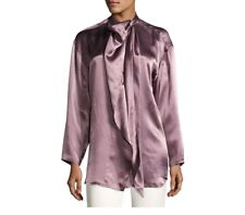 ACNE STUDIOS Bodil Satin Purple Blouse - Size 36