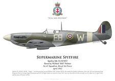 "Print Spitfire Mk Vb, Wilfred ""Bill"" Palmer, 41 Squadron RAF, 1942 (by G.Marie)"