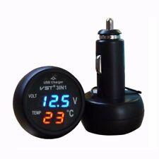 USB Car Charger Cigaretter LED 12v 24v Battery Voltage Tester Monitor Meter