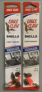 2 Packs Eagle Claw 2 Way Spinner Rigs Size 8 129N-8