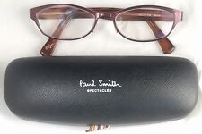PAUL SMITH EYEWEAR BARBET Frames Eyeglasses Newbury Red Sienna Italy Authentic