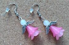 Handmade Angel Earrings Gift Jewellery Pink Women Ladies Girls