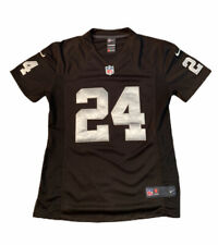 Las Vegas Raiders, NFL Jersey, Woodson 24, Nike, Youth Medium 14-16, Black