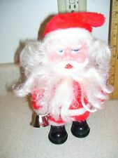 Santa Claus electronic walking toy figure  Hong Kong silver bell Christmas 1384