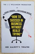 VINTAGE 60's Melbourne Theatre Program How To Succeed in Business Without Trying