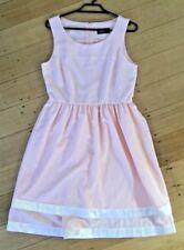 REVIVAL Dangerfield Light Pink Sleeveless Dress Fit & Flare Tiered Skirt Size 10
