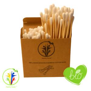 100x Bamboo Cotton Buds. Ear Sticks. Cotton Swab. Eco Friendly Cotton Buds Vegan