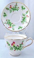 Vintage Colclough Pink Flowers English Tea Cup and Saucer bone china