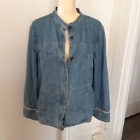 Out of the Blue J Jill denim jacket LT 100% cotton tall lined