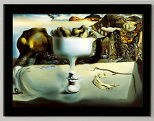 Salvador Dali phenomenon of the face canvas print framed reproduction 8.3X11.7