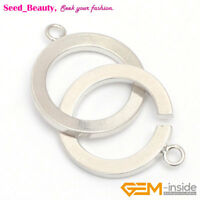 18mm White Gold-plated Toggle Clasps For Jewelry Making, Single Ring Clasp