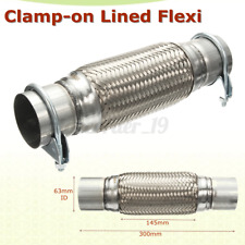 Exhaust Clamp-on Flexi Tube Joint Flexible Pipe Repair 2.5'' x 12'' 63x 300mm UK