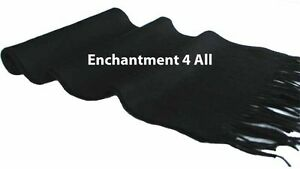 """Handmade Classic 70"""" 100% 2-Ply Pure Cashmere Scarf Neck Muffler, Black Solid"""