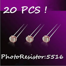 20Pcs Photo Light Sensitive Resistor Photoelectric Switch 5516 GL5516 Sensor