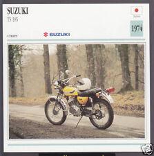 1974 Suzuki TS 185cc (183cc) Japan Trail Bike Motorcycle Photo Spec Info Card