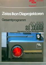 Zeiss Ikon Diaprojektoren Gesamtprogramm 60 Jahre Prospekt brochure - (0457)