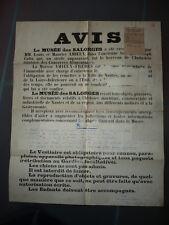 AFFICHE 1930 AMIEUX  MUSEE DES SALORGES