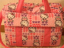 New Hello Kitty custom handmade Diaper Bag w/chg pad by EMIJANE free embroidery