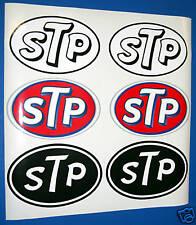 STP retro rally race car motor bike sticker decals