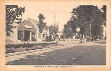 1920's? Gas Pumps Early Car Zimmer's Garage East Durham NY Greene County