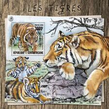 CENTRAL AFRICA 2016 SHEET MNH TIGERS WILD CATS FELINES WILDLIFE FELINI TIGRES 5A