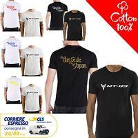 T-Shirt Yamaha MT - 09 uomo Maglia moto nera cotone 100% maglietta