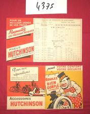 N°4375 / dépliant  accessoires et pneus HUTCHINSON 1955 ?